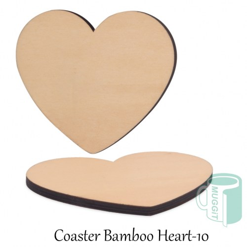 Coaster Bamboo Heart-10
