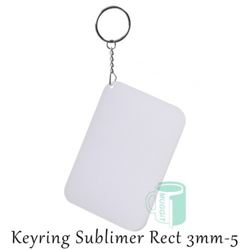 Keyring Sublimer Rect 3mm-5